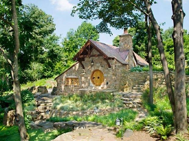 """Os arquitetos da Archer & Buchanan criaram uma réplica da casa dos """"hobbits""""_chale replica do filme Hobbit"""